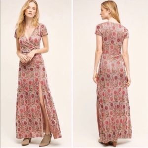 Cecilia Prado Post Floral Metallic Maxi Dress Sz M